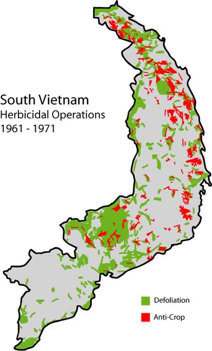 Herbizidverwendung während des Vietnamkriegs